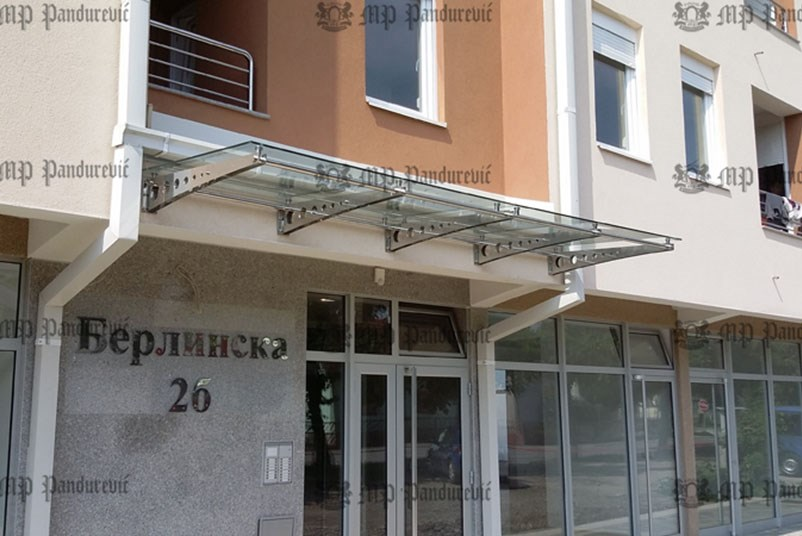 Inox nadstrešnice Stainless steel canopy 1 & Stainless steel canopy | Pandurevic MP